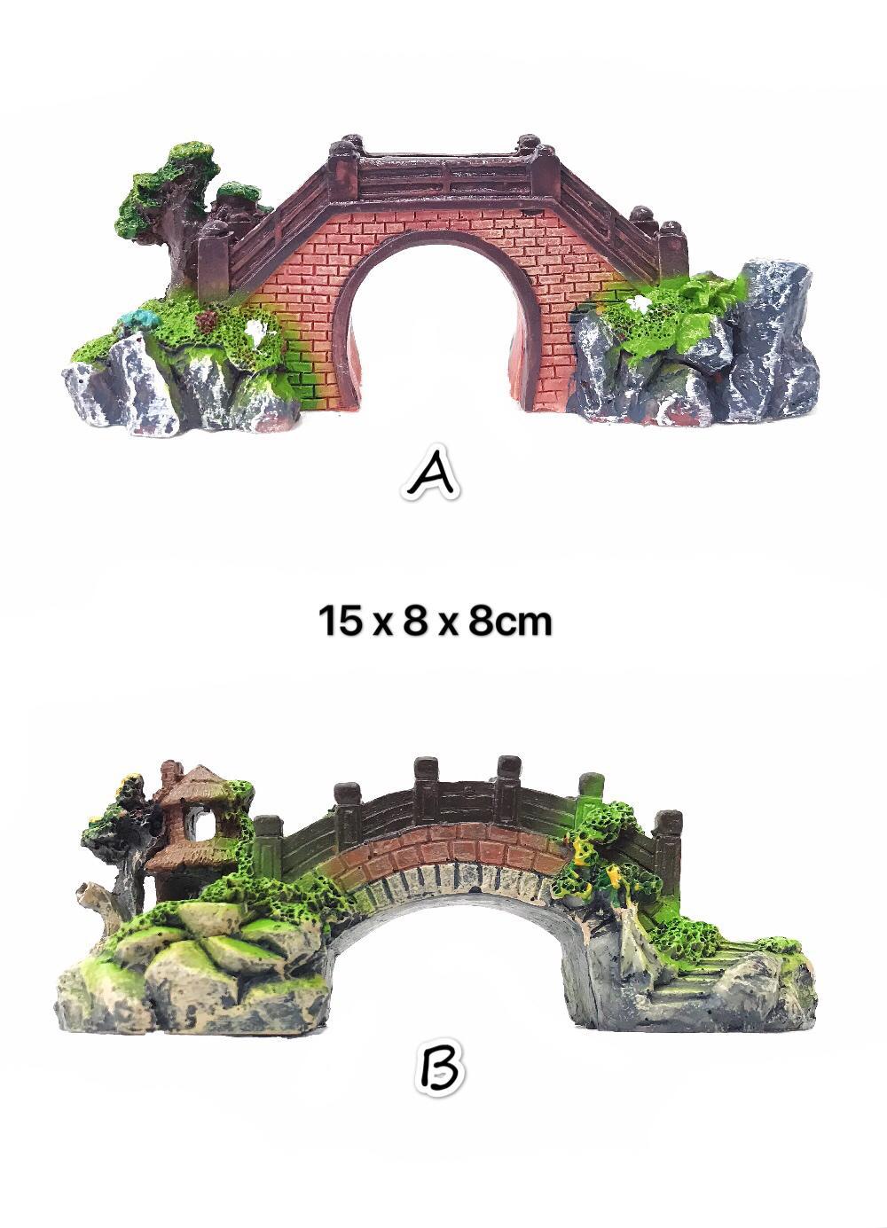 Simulate Resin Bridge Landscape Ornament