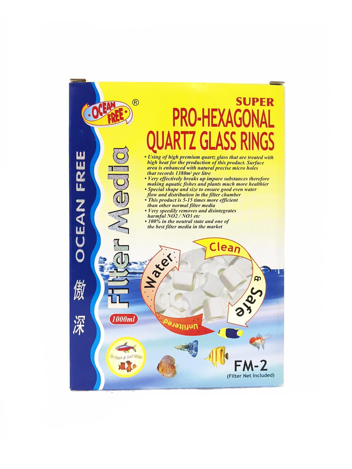 OF Super Pro-Hexagonal Quartz Glass Rings FM-2