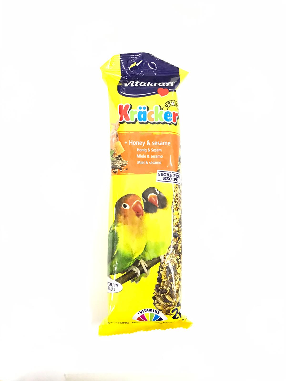 Vitakraft Kracker Honey And Sesame Lovebird (2 Pcs)