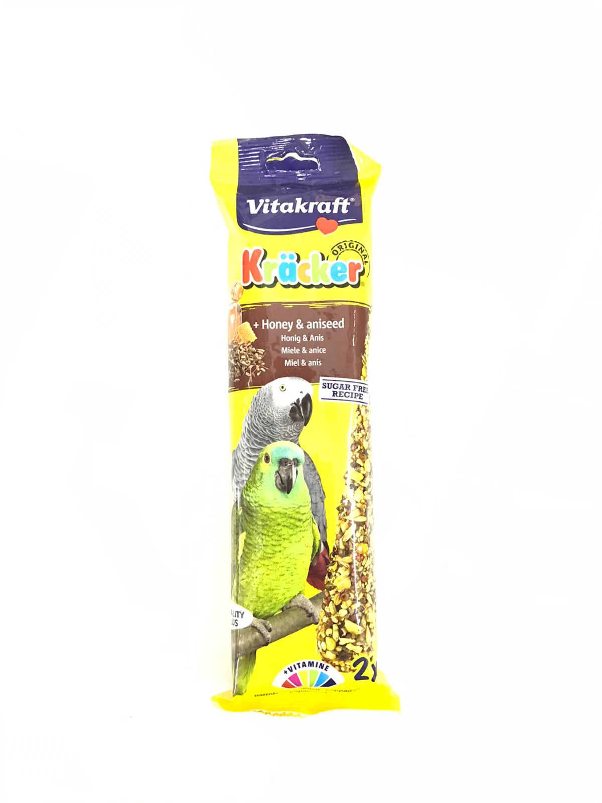 Vitakraft Kracker Honey African Parrot (2 Pcs)