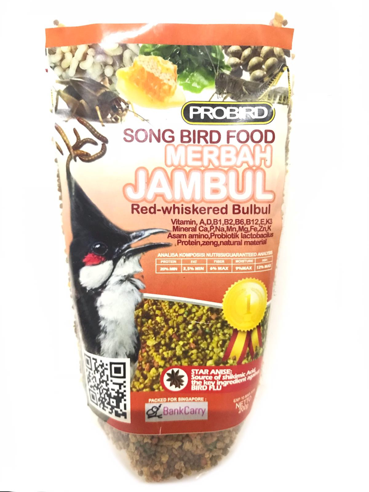 Probird Song Bird Food Merbah Jambul