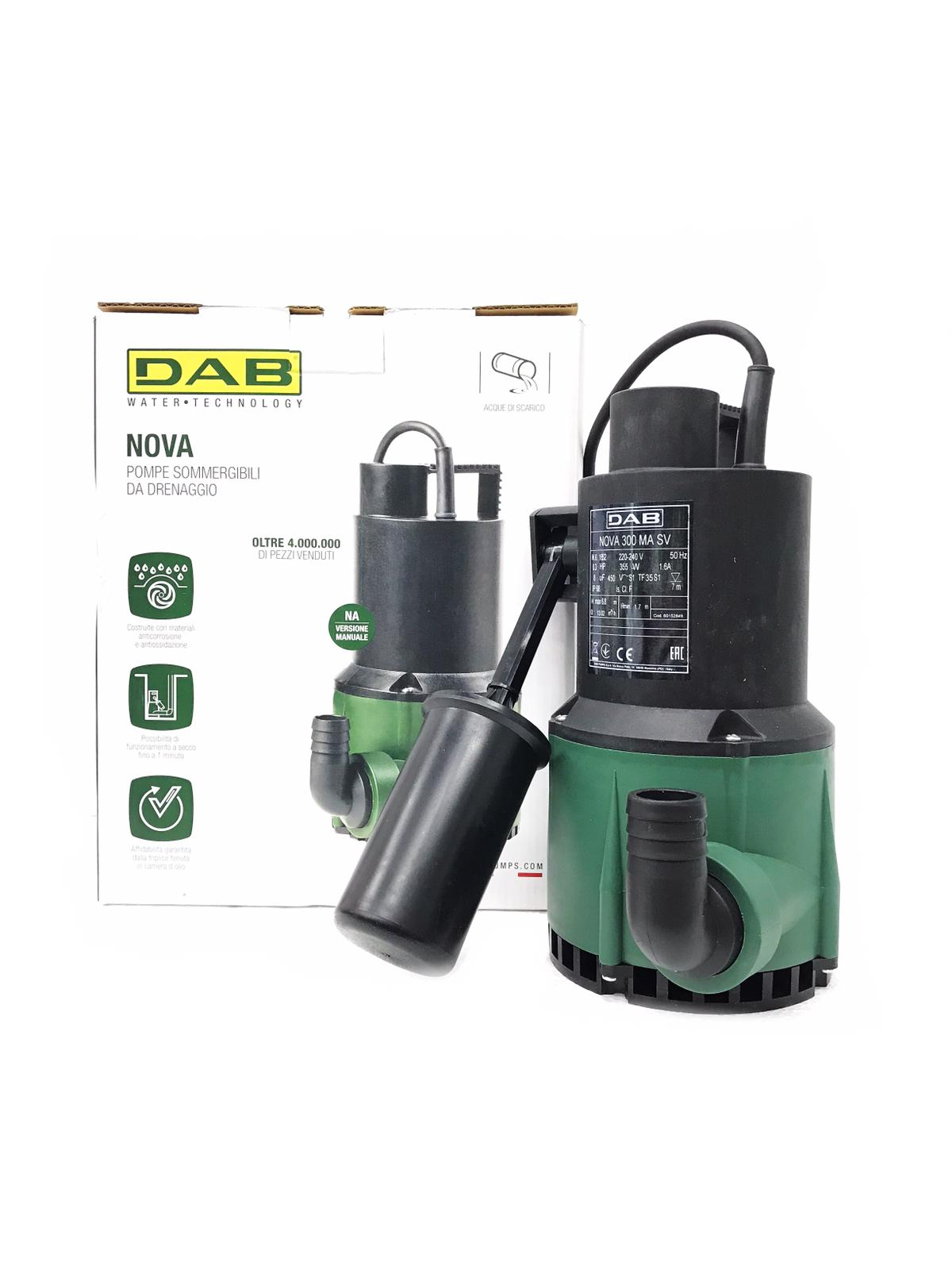 DAB Nova Submersible Pond Pump (Auto)